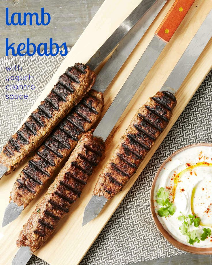 A Tart Herb Sauce Balances Out The Flavor Of These Skewers Made From Ground Lamb