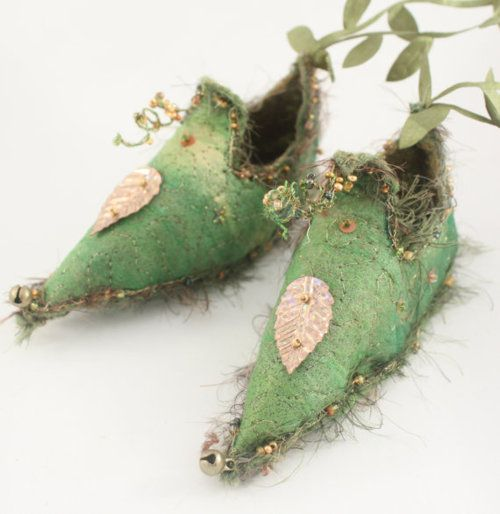 little fairy shoes hand dyed wool felt