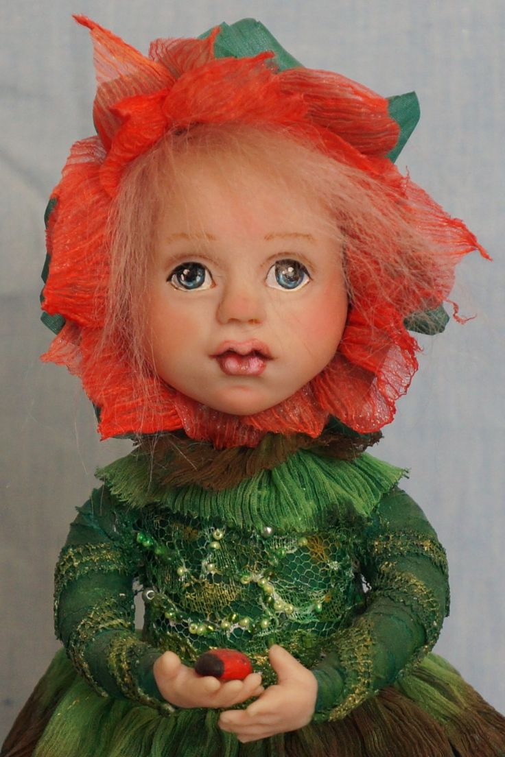 Прекрасная девочка-цветок. 30 см. Единственный экземпляр. 2014 год. by artdollcom on Etsy