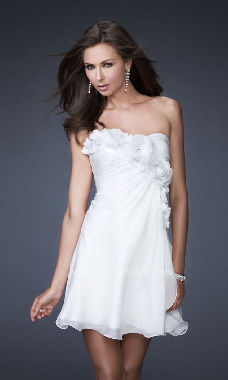 Strapless Short White Dress LF-16173