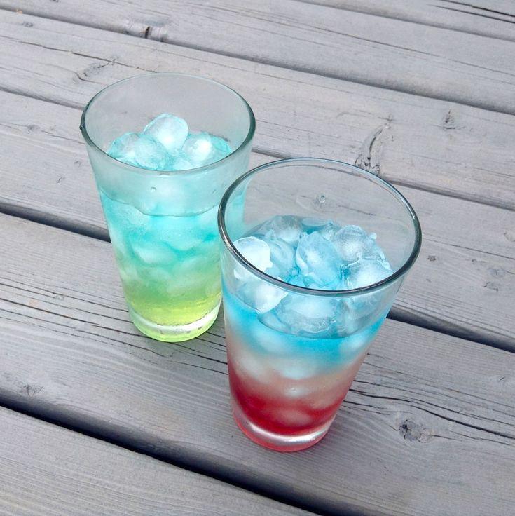 Layered Soda Drinks