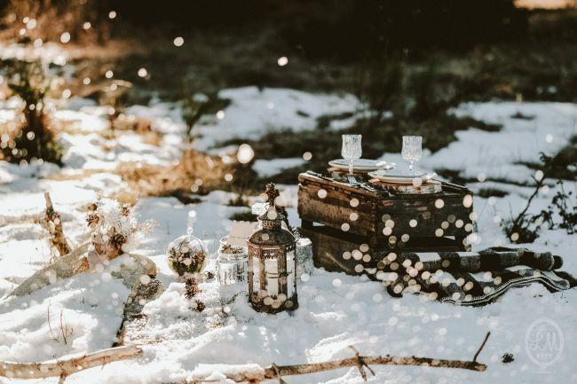 Une inspiration romance en montagne pour un mariage en hiver Image: 23