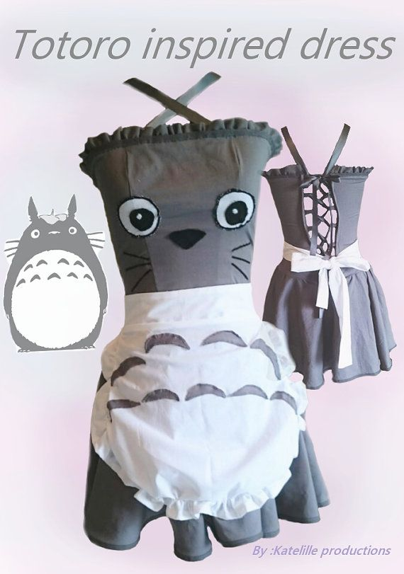 Totoro inspired lolita cosplay dress by KatelilleProductions