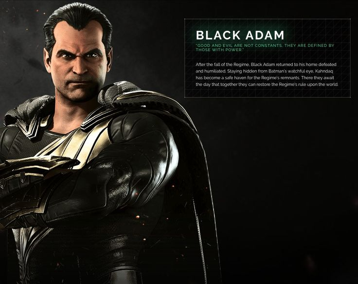 Black Adam Injustice 2 Character Portrait | injustice.com