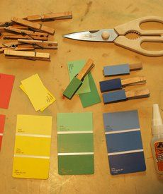 Toddler Talk: Learning Colors - Playing with paint chips