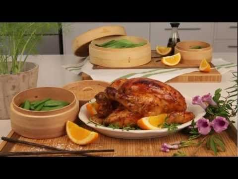 Delicious Orange and Soya Roasted Chicken, made using a hand #Knorr Chicken Stock Pot.