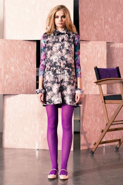 Ways to Wear Purple Tights | Fashion & Style