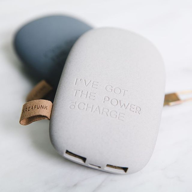 Heading back to everyday life calls for an energy boost! All you need is toCHARGE from KREAFUNK! It is a small powerbank that ensures your smartphone or tablet never run out of extra energy. Photo: @enjoymeshop