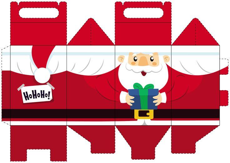 Cajas Lunch para Navidad para Imprimir Gratis. | Ideas y material gratis para fiestas y celebraciones Oh My Fiesta!