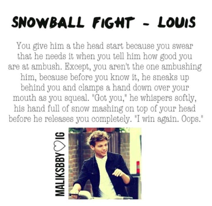 Snowball fight Louis Tomlinson Imagine
