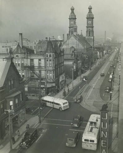 6th and Mitchell looking east