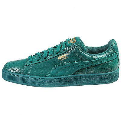 Puma Suede Crackle Mens 361858-01 Parasailing Metallic Shoes Sneakers Size 11.5