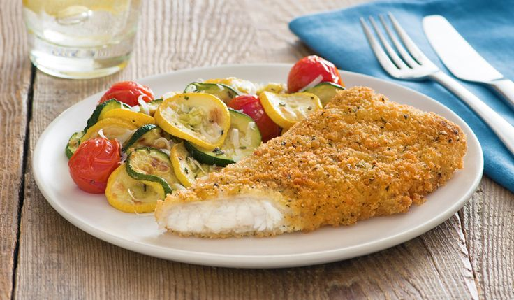 Gorton's Seafood   Parmesan Crusted Cod with Roasted Vegetables