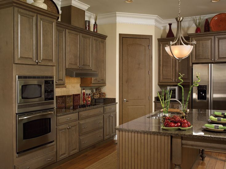Madison Maple Spanish Moss Kit Kitchen Cabinets From