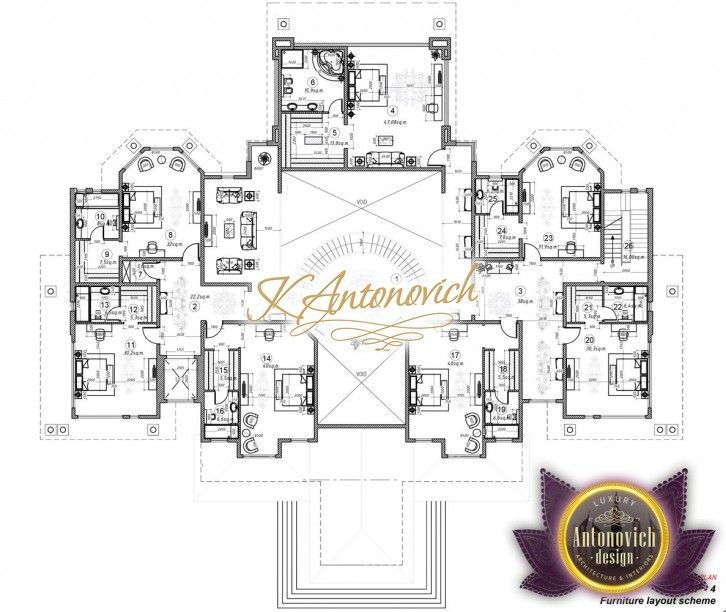 Luxury Villa Plan Uae 20 Offering A Highly Personalized Bespoke Service We Place Great Importance And Commitment To Luxury House Plans Villa Plan House Plans