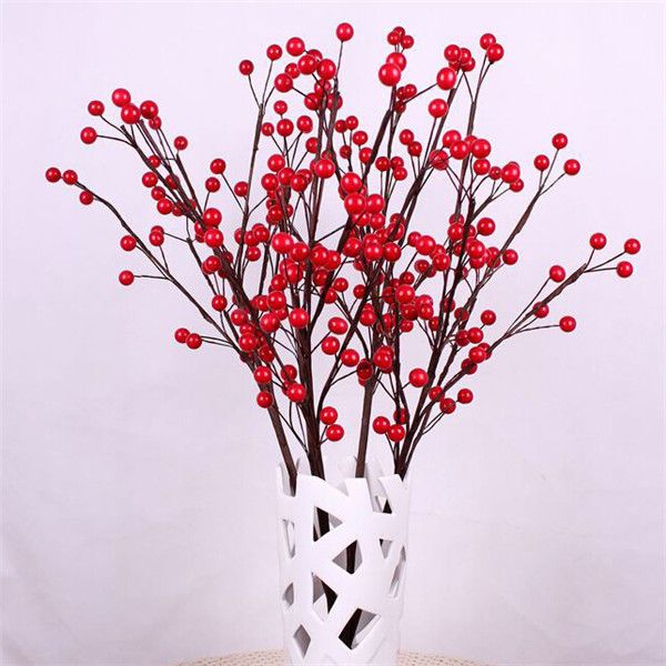 10-100 X Red Plastic Holly Berry on Wire Artificial Xmas Tree Hanging Decor NEW | eBay
