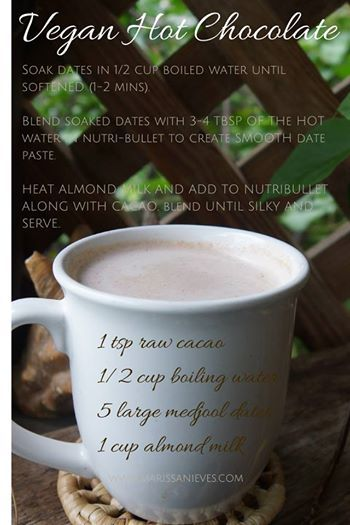 Deliciously silky Vegan Hot Chocolate, not to be missed!!
