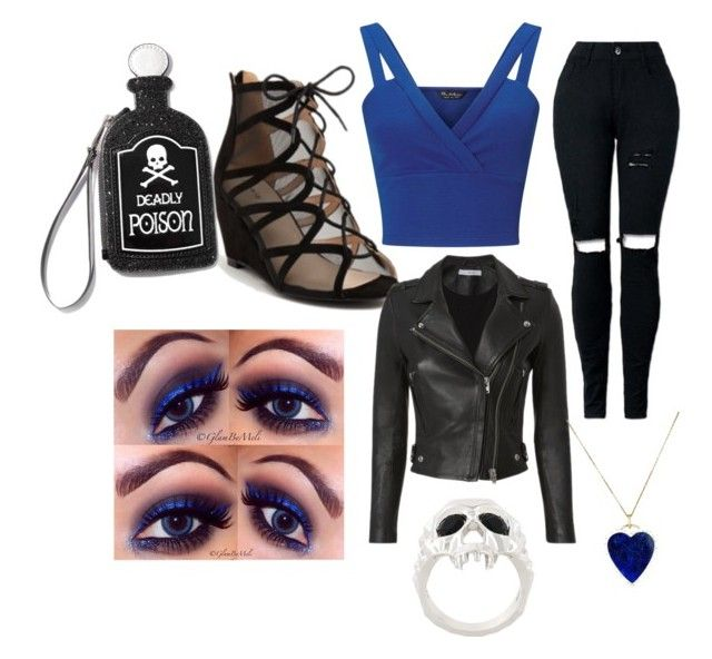 """""""Hades daughter clubbing"""" by hadesdaughter-15 ❤ liked on Polyvore featuring Miss Selfridge, Torrid, Kasun, IRO, Jennifer Meyer Jewelry, Current Mood and NYX"""