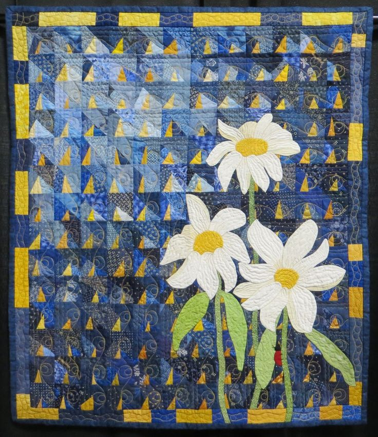 Good Morning Sunshine Quilt Cover : Images about flower quilts on pinterest
