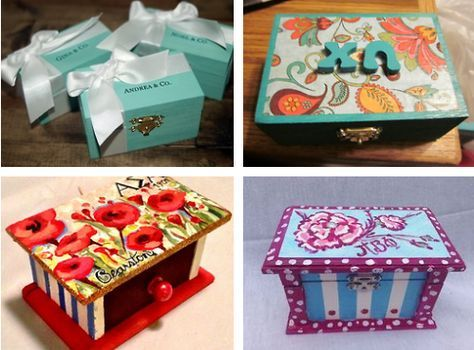 sorority sugar — ❉ cute & crafty: how to paint a wooden badge box!...