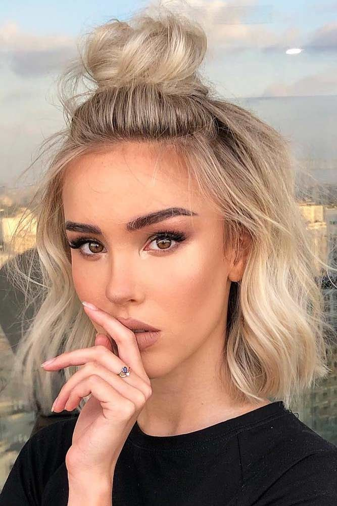 35 Hairstyles For Fine Hair To Put An End To Styling Troubles Short Hair Styles Easy Frontal Hairstyles Short Straight Hair