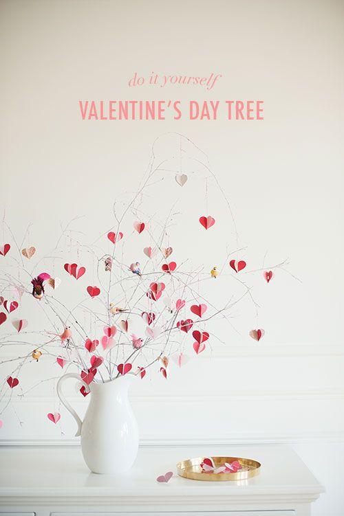 DIY: Valentine's Day branch tree