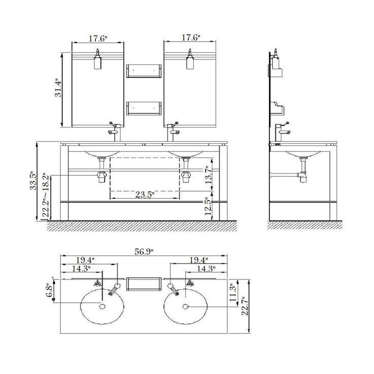 Image Gallery For Website Great Bathroom Vanity Dimensions Standard Outstanding Double Sink