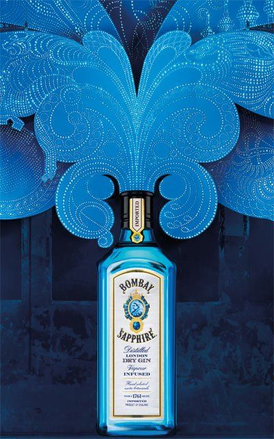 Bombay Sapphire's Ad Campaign is Projected & Infused with Imagination.