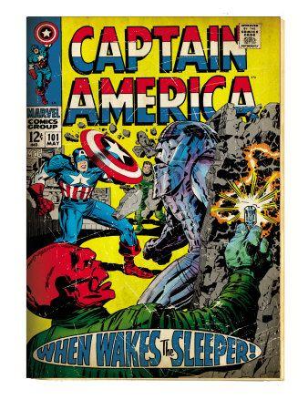 Marvel Comics Retro: Captain America Comic Book Cover #101, Red Skull (aged)