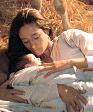 Olivia Hussey - Mary and Jesus in the Manger