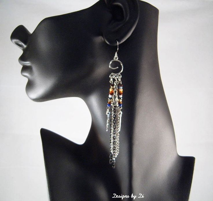 Earrings that go with the Patchwork Frame Necklace
