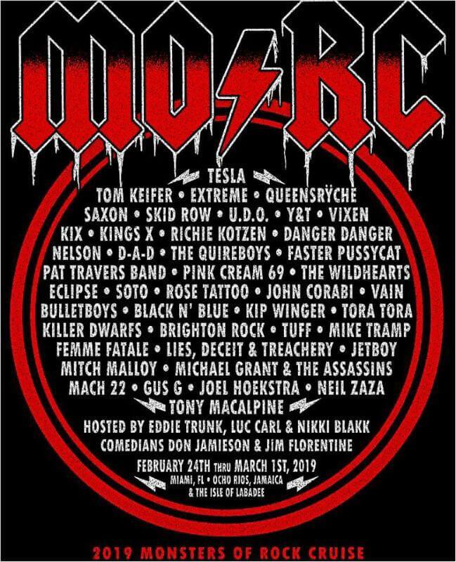 Monsters Of Rock Cruise 2019 John Corabi Cruise Rock Festivals