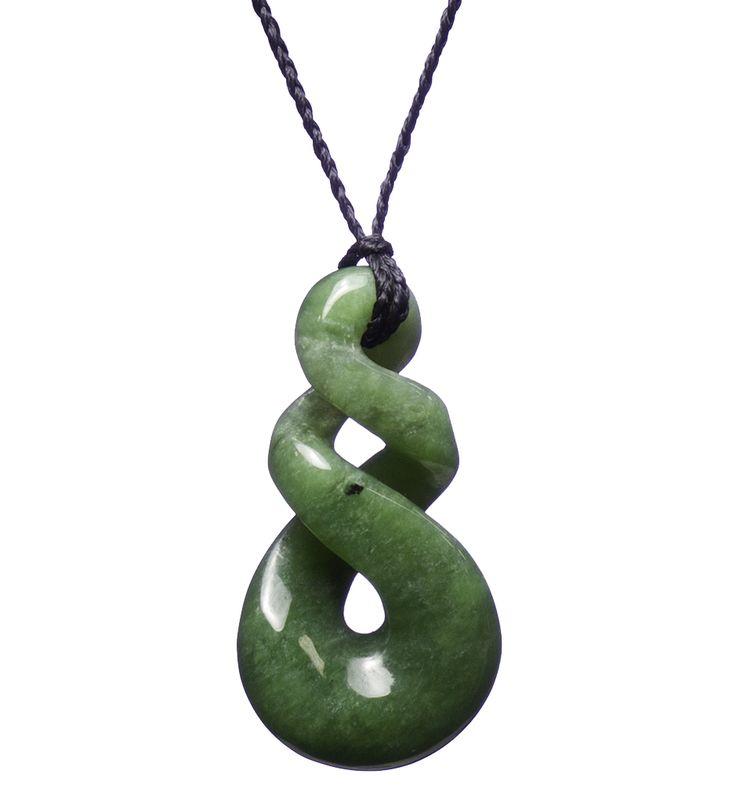 New Zealand Jade Triple Infinity/Twist Necklace : Mountain Jade New Zealand
