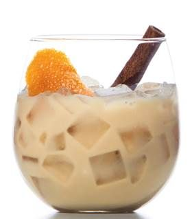 Horchata Coffee Cocktail     1.5 oz Hennessy V.S     1 oz Espresso     1.5 oz Diluted Condensed Milk (diluted 1:1 with water)     .25 oz Grand Marnier     4 dashes Angostura Bitters Shake and serve!