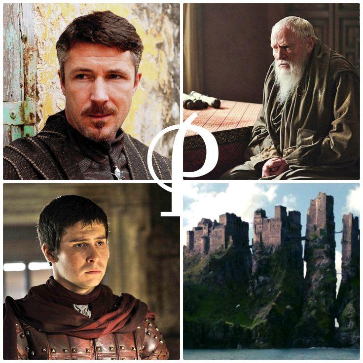 "P is for … … Petyr ""Littlefinger"" Baelish, Grand Maester Pycelle, Podrick Payne, and Pyke"