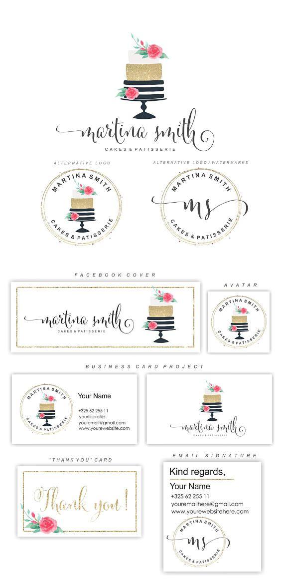 Tarta Logo diseño - logotipo conjunto - Floral acuarela pastel - torta Logo Set - marca de agua Logo - Logo de panadería panadería paquete - Premade logo- DESPUÉS DE COMPRAR POR FAVOR PROPORCIONE LA SIGUIENTE: 1. su nombre nombre/tienda/negocio nombre (el nombre que desea utilizar para su insignia) 3. sus iniciales 4. el mundo bajo el nombre (fotografía, boutique, etcetera de coaching de vida) 5. (para el extendido establece): los datos de su tarjeta de visita proyecto, firma de c...