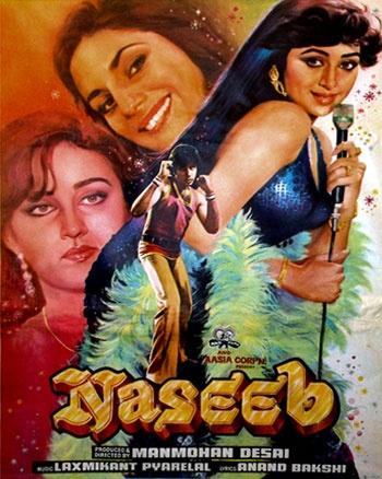Naseeb (1980), Amitabh Bachchan, Classic, Indian, Bollywood, Hindi, Movies, Posters, Hand Painted