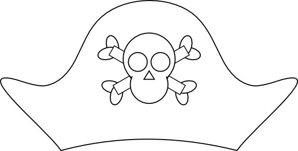 Best 25 pirate hat template ideas on pinterest pirate for Pirate hat coloring page