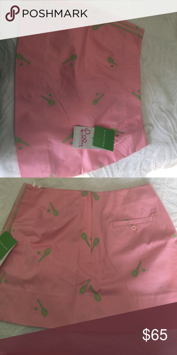 Lilly Pulitzer Palm Beach tennis skirt style name: Kimlyn color is Bermuda pink, size 2, originally $124.00 was gifted to me and never worn, new with tags Lilly Pulitzer Skirts Mini