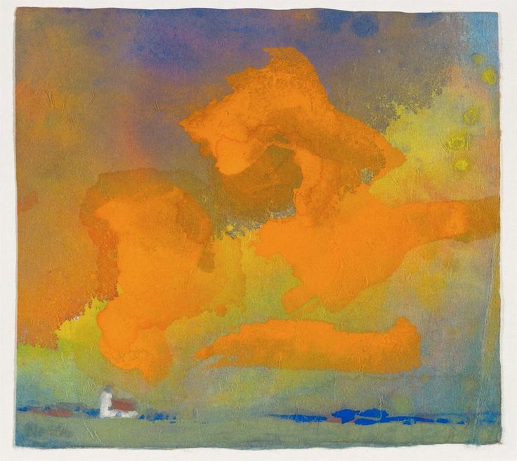 """dappledwithshadow: """" Red and Yellow Cloud, Emil Nolde, c.1930 """""""