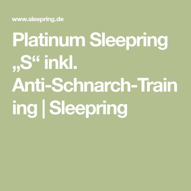 "Platinum Sleepring ""S"" inkl. Anti-Schnarch-Training | Sleepring"