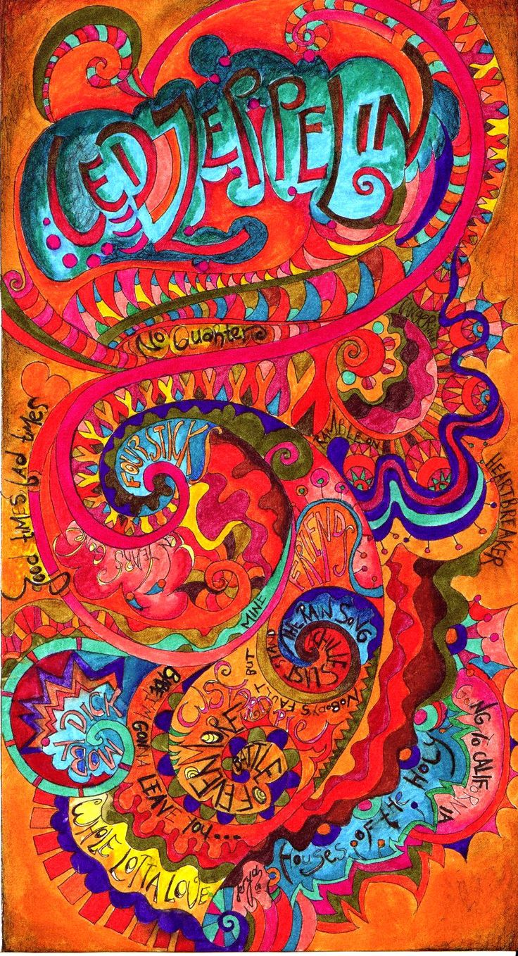 Led Zeppelin psychedelic poster