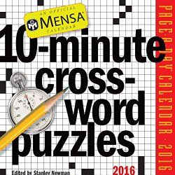Mensa Crossword Puzzles Page A Day Calendar 2016