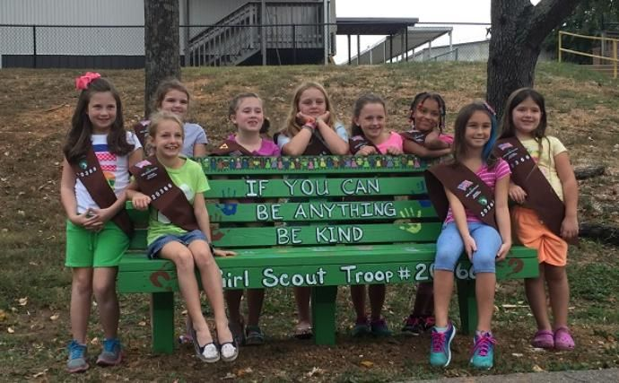There's a new bench at Powell Elementary that not only looks different from all the other benches on the playground, but has a special meaning behind it too.