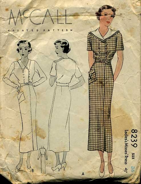 1930s McCall dress patternDress Patterns, Dresses Pattern, 1930S Mccall, Sewing Pattern, Abbey Inspiration, 1930S Clothing, Vintage Sewing, Mccall Dresses, Downton Abbey