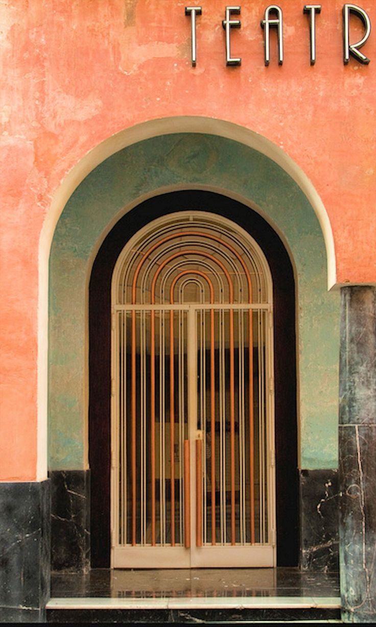 Luis Gutiérrez Soto - 1929-1932 - Door Teatro Góngora, Cordoba, Spain - Art Deco - Photo by Bruce Poole - http://www.flickr.com/photos/brucepoole/6813053917/in/set-72157628119612422