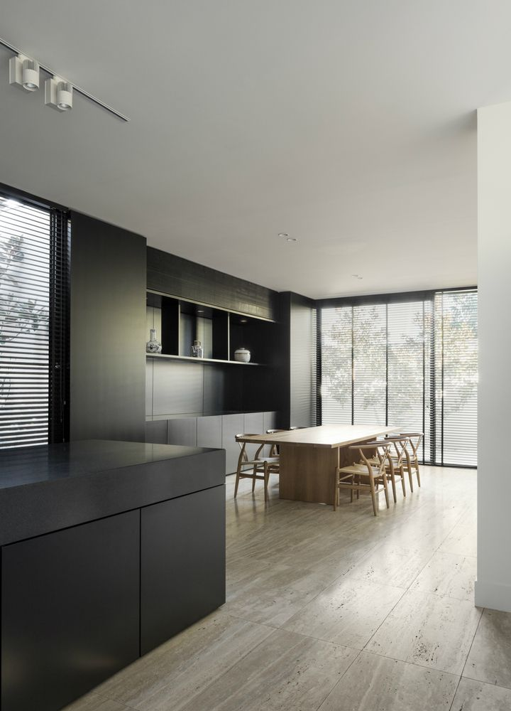 LSD Residence is a minimal home located in Melbourne, Australia, designed by Davidov Partners Architects