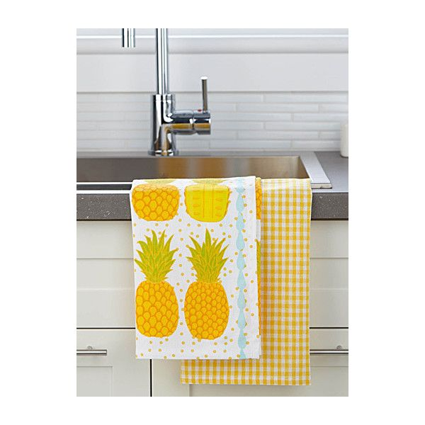 Danica Tropical punch towels  Set of 2 ($9.24) ❤ liked on Polyvore featuring home, bed & bath, bath, bath towels, tropical bath towels, yellow towel set, yellow bath towels, cotton bath towels and danica studio