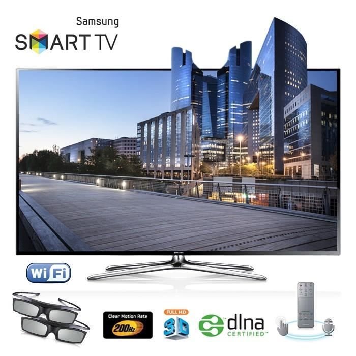 samsung ue46f6400 led tv 3d smart tv prix promo cdiscount. Black Bedroom Furniture Sets. Home Design Ideas