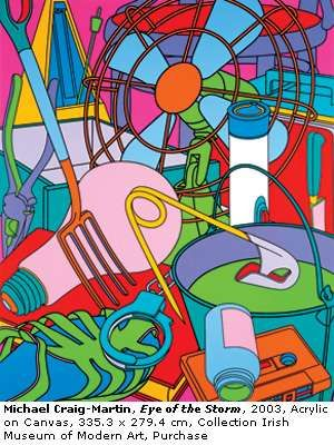 Michael Craig Martin's modern approach to still life genre.